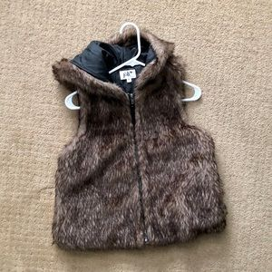 Furry Hooded Vest